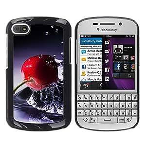 TopCaseStore / la caja del caucho duro de la cubierta de protección de la piel - Fruit Basket - BlackBerry Q10