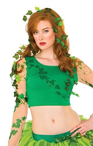 Rubie's Women's DC Comics Poison Ivy Vine and Leaves Costume Accessory, Green, One (Poison Ivy Dc Comics Costume)