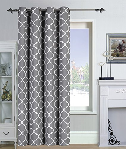 Blackout Curtain Printed Drapes Blinds Room Darkening Panel 52x84 Inches Ebay