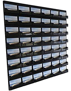 Amazon displays2go business card holder 24 pockets wall source one 48 pocket wall mount business card holder rack black acrylic bc colourmoves