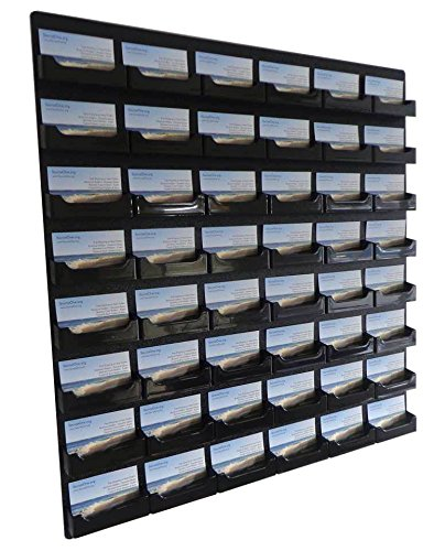 Amazon source one 48 pocket wall mount business card holder source one 48 pocket wall mount business card holder rack black acrylic bc reheart Choice Image