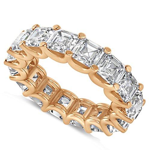 - Allurez Radiant-Cut Diamond Eternity Wedding Band Ring in 14k Rose Gold (7.20ct)