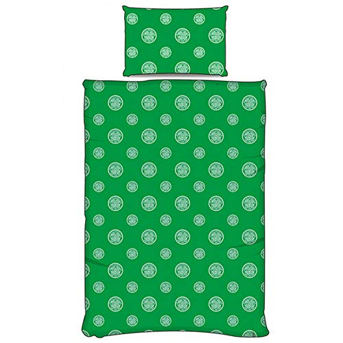 Celtic FC Official Pulse Single Duvet Set (Single) (Green)