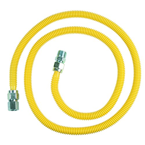 BrassCraft CSSC54-72 P 1/2-Inch FIP x 1/2-Inch MIP x 72-Inch ProCoat Gas Appliance Connector, 5/8-Inch, OD 86,000 BTU from BrassCraft Mfg