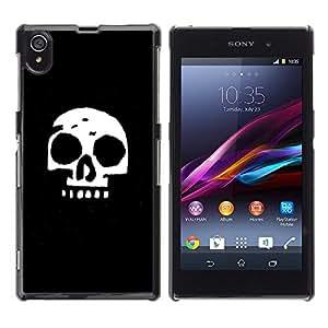 LECELL--Funda protectora / Cubierta / Piel For Sony Xperia Z1 L39 -- Cráneo simple --