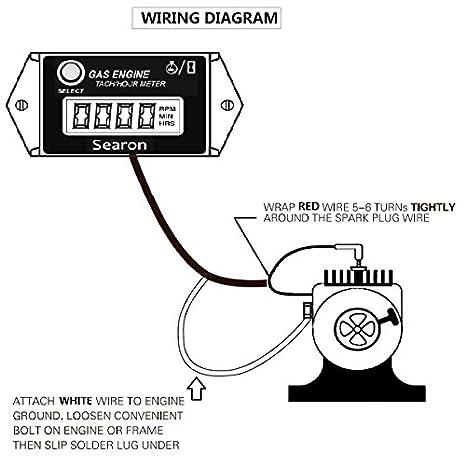 Searon Digital Hour Tachometer RPM Counter for Snowmobile Skis Motor Bike  Go Kart Lawn Mower