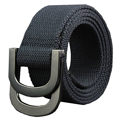 Maikun Belts Military Web Canvas Double D-Ring Buckle Tactical Belt Valentine's - Canvas Ring
