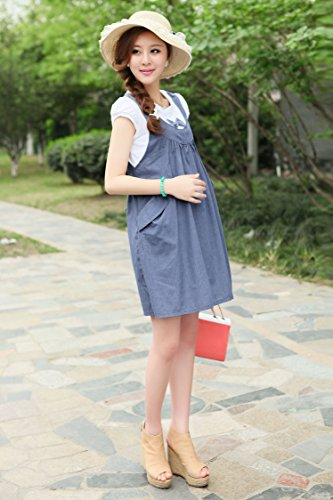 Clothes Maternity Dress For Pink Bow Pregnant Summer FakeTwo Knot Piece Gaorui Women Cotton TAXqZBn