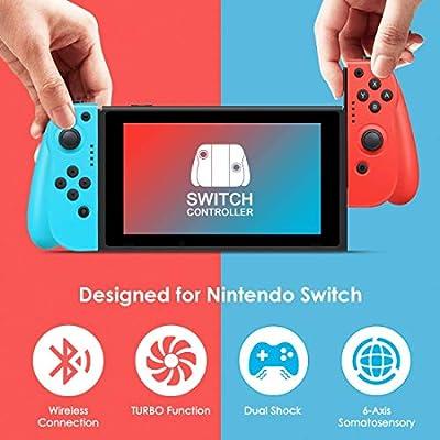 Mandos para Nintendo Switch,Timoom Bluetooth Wireless Controller Gamepad Joystick Controlador De Reemplazo Izquierdo Y Derecho para Joy Con.: Amazon.es: Electrónica
