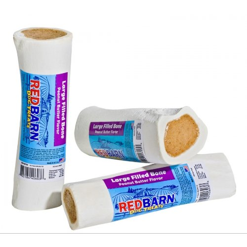 Redbarn Large Peanut Butter Filled Bone, 5-Inch (15 Pack)