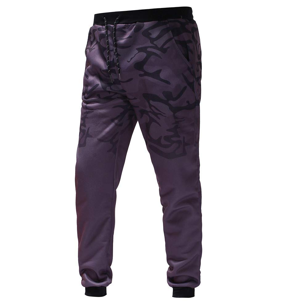 Fashion Mens Outdoor Drawstring Trousers M-3XL Casual Soild Workout Comfort Slim Pants MITIY