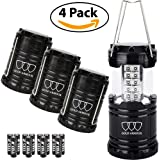 4Pack LED Lantern - Gold Armour Camping Lantern - Camping Equipment Camping Gear Camping Lights for Hiking, Emergency, Hurricanes, Outages, Storms, Camping Lanterns