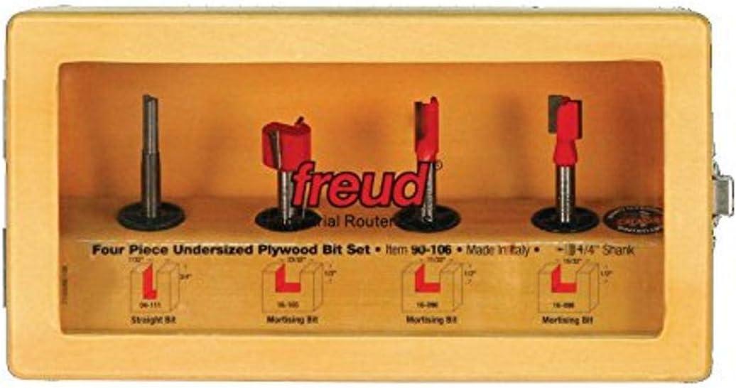 Freud 4 Piece Undersized Plywood Bit Set (1/4