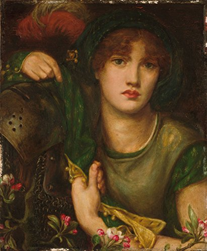 Dante Gabriel Rossetti - My Lady Greensleeves, Poster art print wall d?cor