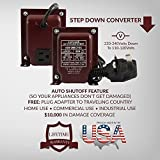 ACUPWR ADB-200 200-Watt 220-240 Volts to 110-120 volts Step Down Voltage Transformer/ Converter with Type G Fuse Plug (BS-1363) for use in UNITED KINGDOM