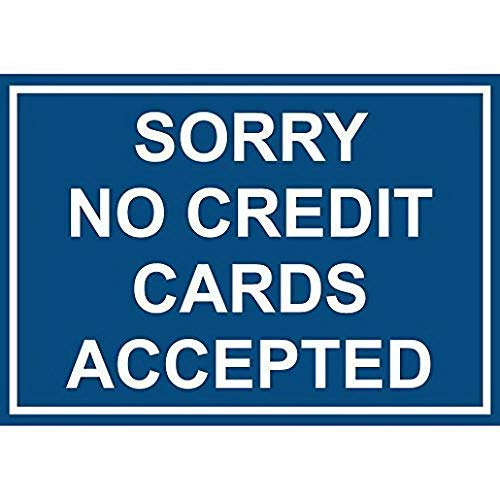 Jacksoney Tin Sign New Aluminum Metal Sorry No Credit Cards Accepted 11.8 x 7.8 Inch (Best Credit Cards For New College Grads)