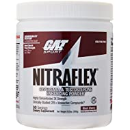 GAT Clinically Tested Nitraflex, Testosterone Enhancing Pre Workout, Black Cherry,300 Gram
