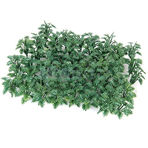 [50 Model Ground Cover Plants Architectural Railroad Diorama Scenery 1:50 O Scale] (Soft Touch Track Mat)