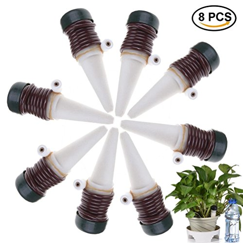 CoscosX 8 Pcs Automatic Watering Device Probes Vacation Houseplant Plant Pot Bulbs Spikes Garden Waterer Flower Water Drip Irrigationdevice Self Watering System by CoscosX