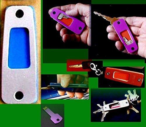Keysafe Ii Silver Matte  Eleven Aluminum Colors     Original  Pilots  Space Age Ez Fold Compact  Flight Suit  Key Case Organizer    Usb Flash Cards  Fobs    Usa