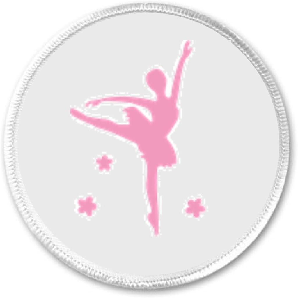 A/&T Designs Pink Ballerina Silhouette 3 Sew On Patch #1 Ballet Dancer