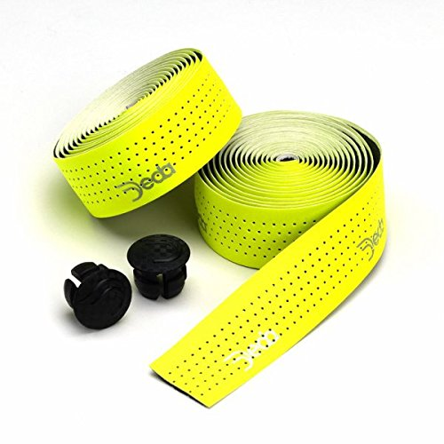 Deda Elementi Mistral Perforated Synthetic Leather Road Bicycle Handlebar Tape (Fluorescent ()