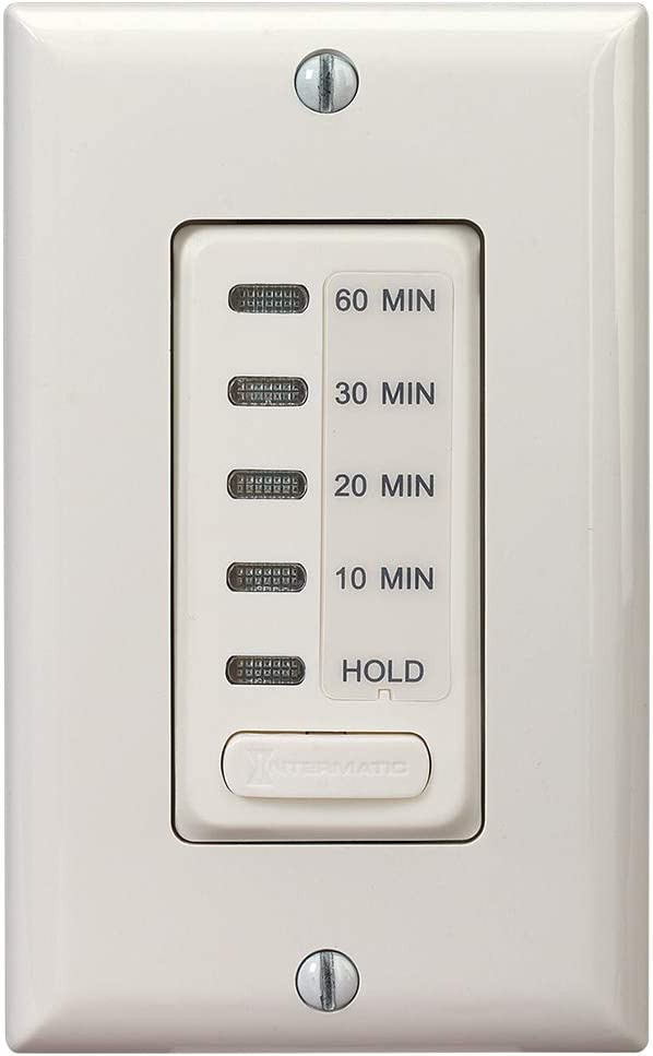 Intermatic EI210LA 10/20/30/60 Electronic in-Wall Countdown 1800-Watt Timer, Light Almond