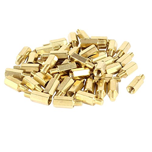 Uxcell a14040700ux0339 PC PCB Motherboard Brass Standoff Hexagonal Spacer M3 9+4mm (Pack of 50)