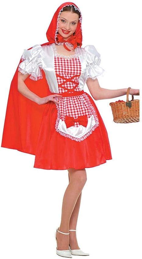 Horror-Shop Disfraz de pequeña Caperucita Roja con el delantal del ...