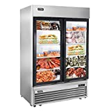 2 Glass Door Merchandiser Freezer - KITMA 49