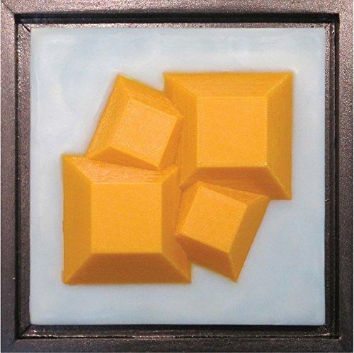 Pyramid Scheme 4 - encaustic & 3D-printed mixed media art - Printed Frames 3d