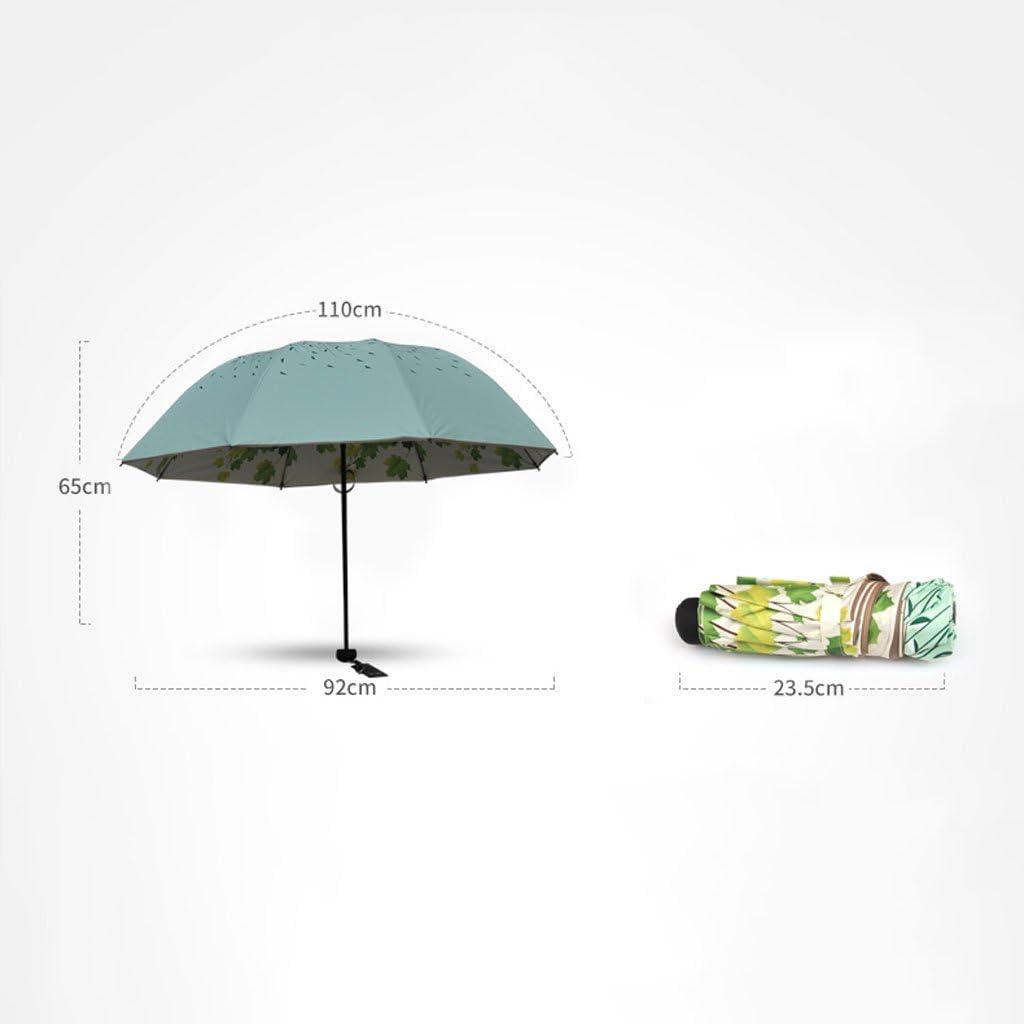 LXY Vinyl Parasol Women Sun Protection Tri-fold Double Sun Umbrella Umbrella Color : Blue