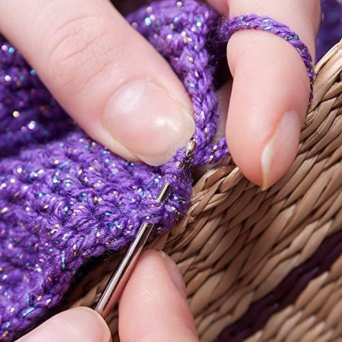Kalawen 39 PCS Crochet Hooks Set, 12 Ergonomic Crochets Aluminum Soft Handles 9 Knitting Needles 10 Stitch Markers with Measure Tape Row Counter Thread Cutting Ring Scissor Twist Pins Portable Case by Kalawen (Image #7)