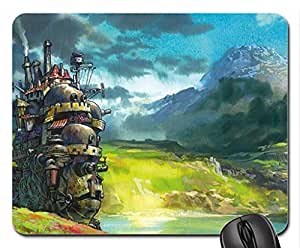 Howls Moving Castle Mouse Pad, Mousepad (10.2 x 8.3 x 0.12 inches)