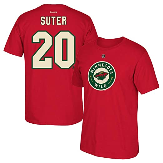 brand new c511a eec49 Ryan Suter Minnesota Wild Red Jersey Name And Number T-Shirt