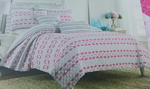 Cynthia Rowley Bedding Full Queen Quilt Set Flamingo Birds T