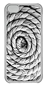 iPhone 5C Case Swirling Rope Texture734 PC iPhone 5C Case Cover Transparent