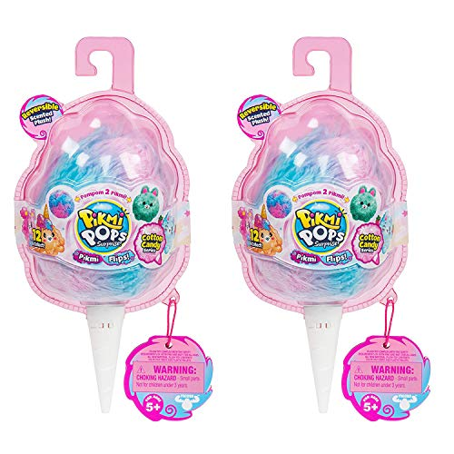 (Pikmi Pops Surprise! Pikmi Flips (Reversible Scented Plush) Cotton Candy Series- Gift Set of 2)