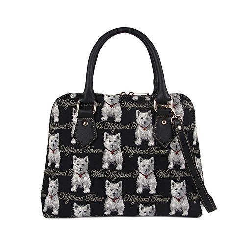 patterns Westie Handbag Signare Tapestry in Ladies a of choice 8701wq