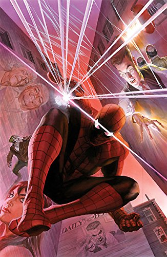Spider-Man With Great Power Alex Ross AP 25 30x19 Canvas Signed NEW - Ap Edition Limited Numbered