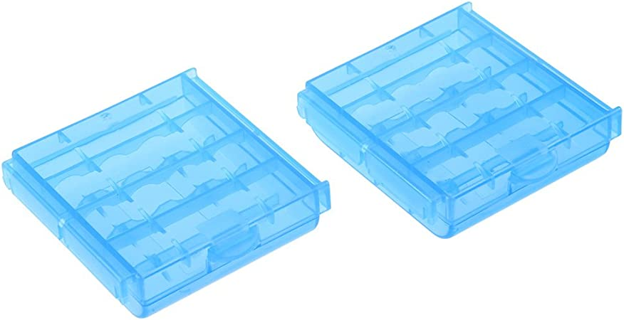 2PCS Portable Hard Plastic Case Holder Storage Box For AA//AAA Battery Storage