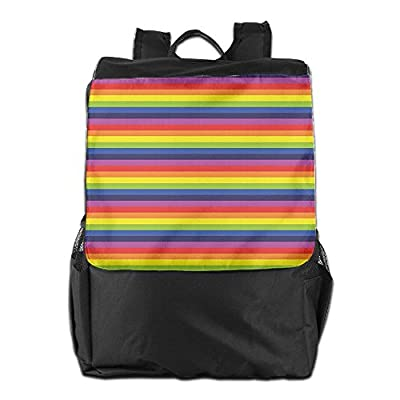 aba2e15dedfb 50%OFF Newfood Ss Vibrant Rainbow Colored Stripes Horizontal Pattern Funky  Texture Outdoor Travel Backpack