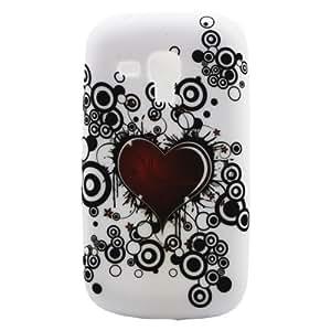 Love Heart Ring Design Gel TPU Case Skin Shield for Samsung Galaxy S Duos S7562