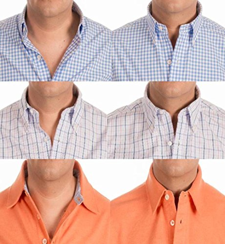 Collar placket stays select your shirt collar size for Stiff collar polo shirt