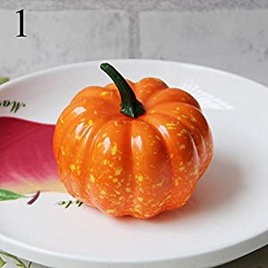 FYYDNZA 1Pcs Simulation Pumpkin Model Yellow Green 2 Color Fake Vegetables And Props Foam Fruit Dish Decoration Decoration,1 98