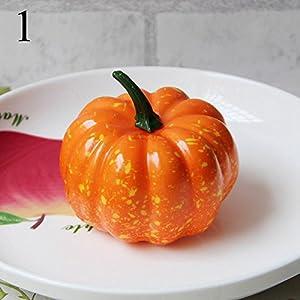 FYYDNZA 1Pcs Simulation Pumpkin Model Yellow Green 2 Color Fake Vegetables And Props Foam Fruit Dish Decoration Decoration 71