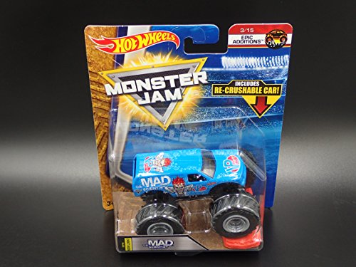 2018 Hot Wheels Monster Jam 1:64 Scale Truck with Re-Crushable Car - The Mad Scientist