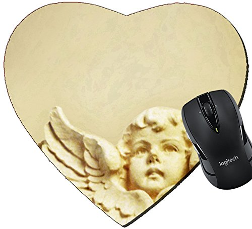 MSD Mousepad Heart Shaped Mouse Pads/Mat design 26588435 Plaster cherub -