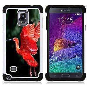 For Samsung Galaxy Note 4 SM-N910 N910 - red bird fire green flight wings tropical Dual Layer caso de Shell HUELGA Impacto pata de cabra con im????genes gr????ficas Steam - Funny Shop -