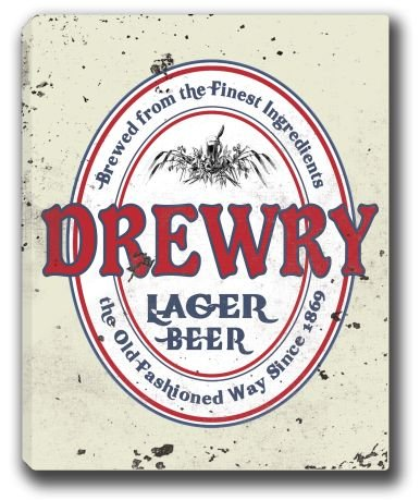 drewry-lager-beer-stretched-canvas-sign-16-x-20